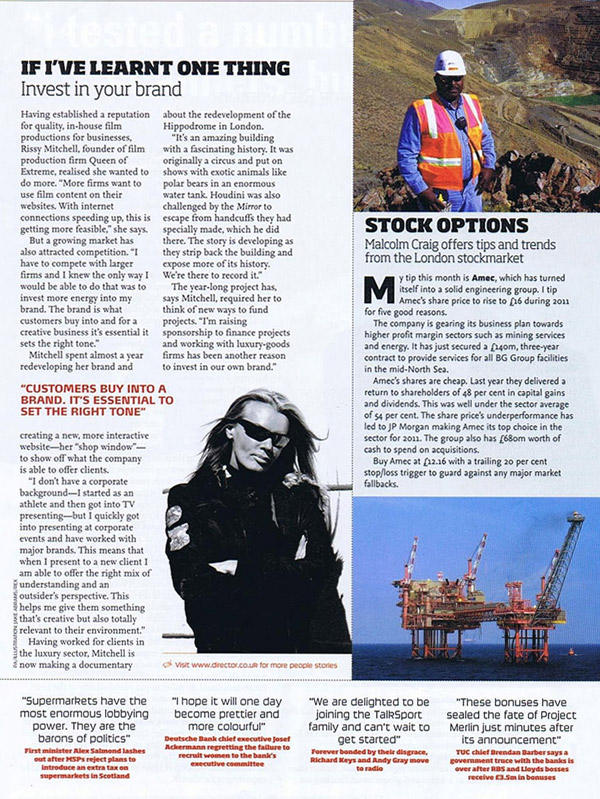 Director Article on Queen of Extreme