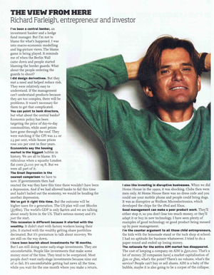 Richard Farleigh interview in Director Magazine - April 2009