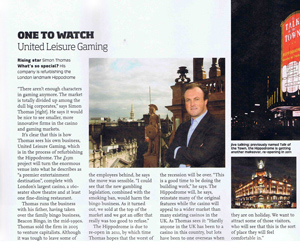 Simon Thomas Interview - Hippodrome - United Leisure Gaming